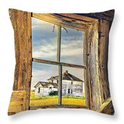 View From The Stable Throw Pillow