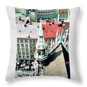 View From The Top Of Munich City Hall Throw Pillow