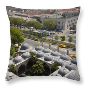 View From The Valens Aqueduct In Istanbul Throw Pillow