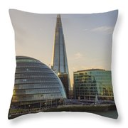 View From Tower Bridge London Throw Pillow