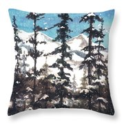 View From Twister Lift Throw Pillow