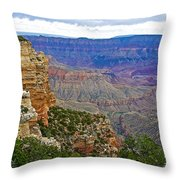 View From Walhalla Overlook On North Rim Of Grand Canyon-arizona  Throw Pillow