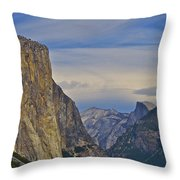 View From Wawona Tunnel Throw Pillow
