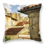 View In Cognac Throw Pillow