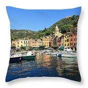 view in Portofino Throw Pillow