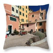view in Sori Italy Throw Pillow