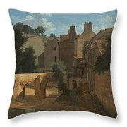 View In The Ile-de-france Throw Pillow