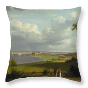 View North Of Kronborg Castle Throw Pillow