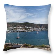 View Of A Harbor From A Castle, St Throw Pillow