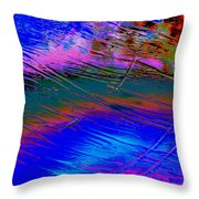View Of A Rain Storm 2  Throw Pillow