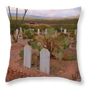 View Of Arizona From Boothill Cemetery Throw Pillow