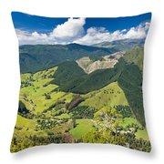 View Of Arthur Range In Kahurangi Np Of New Zealand Throw Pillow