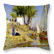 View Of Cairo Throw Pillow