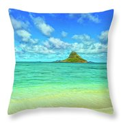 View Of Chinaman's Hat Throw Pillow