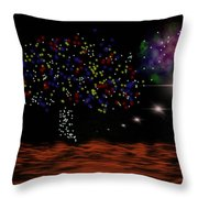 View Of Euphrate Throw Pillow