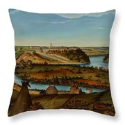 View Of Fort Snelling Throw Pillow