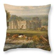 View Of Hampton Court Throw Pillow
