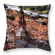 View Of Heidelberg Throw Pillow