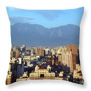 View Of Kaohsiung City In Taiwan Throw Pillow
