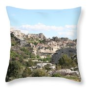 View Of Les Baux De Provence Throw Pillow