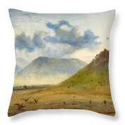 View Of Marathon Throw Pillow