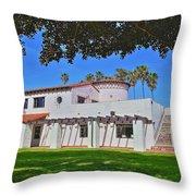 View Of Ole Hanson Beach Club San Clemente Throw Pillow