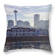 View Of Pier 70 Throw Pillow