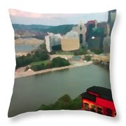 View Of Pittsburgh From Mt. Washington Throw Pillow