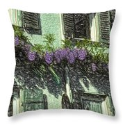 View Of Purple Throw Pillow