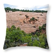 View Of Rock Dome Surface From Sandal Trail Across The Canyon In Navajo National Monument-arizona Throw Pillow
