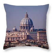 View Of Rome 2013 Throw Pillow