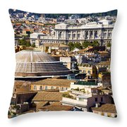 View Of Rome's Rooftops Throw Pillow