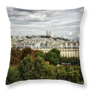 View Of Sacre Coeur From The Musee D'orsay Throw Pillow