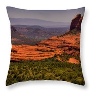 View Of Sedona From The East Throw Pillow
