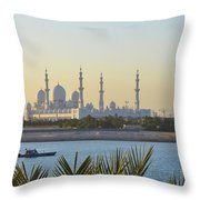 View Of Sheikh Zayed Grand Mosque Throw Pillow