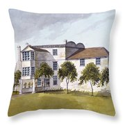 View Of Sir Noel De Carons House, 1809 Wc On Paper Throw Pillow