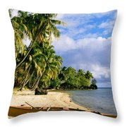 View Of Tahiti Throw Pillow