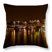 View Of Thames River From Waterloo Throw Pillow