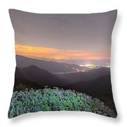 View Of The Appalachians From Craggy Pinnacle Near The Blue Ridg Throw Pillow