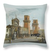 View Of The Arsenale. Venice Throw Pillow