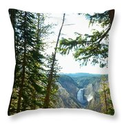 View Of The Canyon Throw Pillow