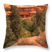 View Of The Cliffs From The Cliff Throw Pillow