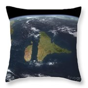 View Of The Indian Subcontinent Throw Pillow