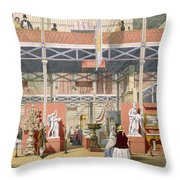 View Of The Italy Section Of The Great Throw Pillow