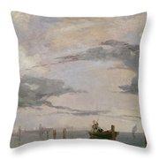 View Of The Lagoon Near Venice, 1826  Throw Pillow