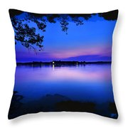 View Of The Night Lake Throw Pillow