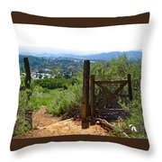 View Of The Ojai Valley Throw Pillow