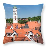 View Of The Old Town With St. Martins Throw Pillow