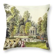 View Of The Temple Of Diana At Erlaw Throw Pillow