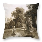 View Of The Temple Of Suryah Throw Pillow
